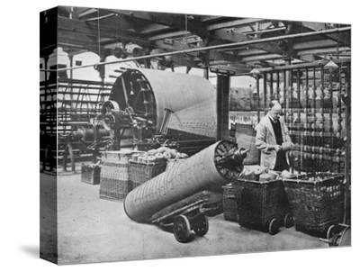 'Making the warp', 1915-Unknown-Stretched Canvas Print