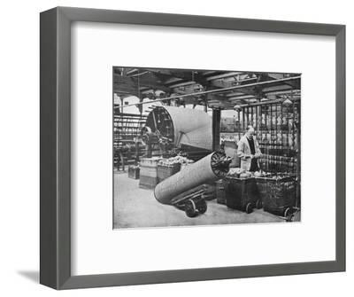 'Making the warp', 1915-Unknown-Framed Photographic Print