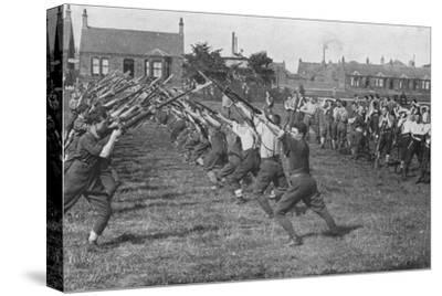 'Recruits learning the use of the bayonet', 1915-Unknown-Stretched Canvas Print