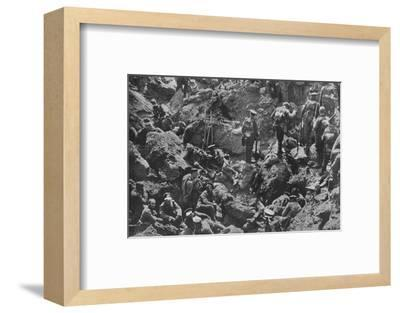 'A remarkable war photograph, mined and captured by the British', 1915-Unknown-Framed Photographic Print