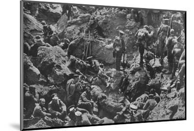'A remarkable war photograph, mined and captured by the British', 1915-Unknown-Mounted Photographic Print
