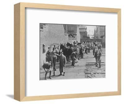'The New Army in training at the Farriers' School', 1915-Unknown-Framed Photographic Print