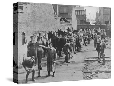 'The New Army in training at the Farriers' School', 1915-Unknown-Stretched Canvas Print