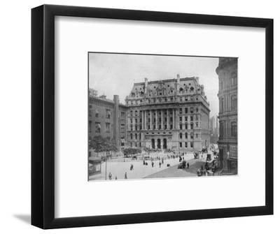 'The Hall of Records, New York', 1915-Unknown-Framed Photographic Print