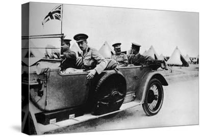 'General Sir John Maxwell, commander of Egyptian troops, motoring through one of the camps', 1915-Unknown-Stretched Canvas Print