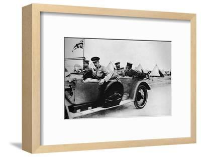 'General Sir John Maxwell, commander of Egyptian troops, motoring through one of the camps', 1915-Unknown-Framed Photographic Print