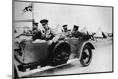 'General Sir John Maxwell, commander of Egyptian troops, motoring through one of the camps', 1915-Unknown-Mounted Photographic Print