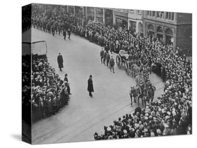'Funeral procession, with full military honours, of the captain of the Blucher', 1915-Unknown-Stretched Canvas Print