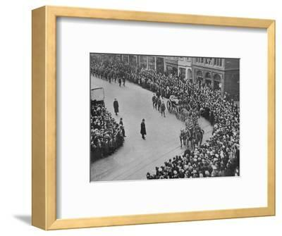 'Funeral procession, with full military honours, of the captain of the Blucher', 1915-Unknown-Framed Photographic Print