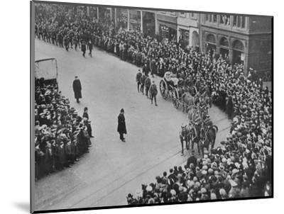 'Funeral procession, with full military honours, of the captain of the Blucher', 1915-Unknown-Mounted Photographic Print