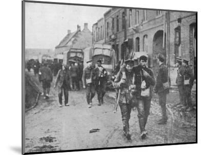 'The British wounded returning to a dressing station after an attack', 1915-Unknown-Mounted Photographic Print