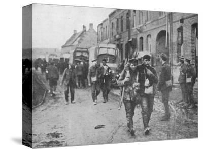 'The British wounded returning to a dressing station after an attack', 1915-Unknown-Stretched Canvas Print