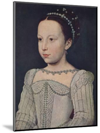 'Marguerite de Valois', c1560, (1939)-Francois Clouet-Mounted Giclee Print