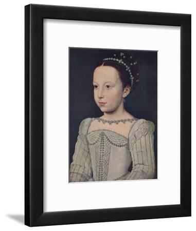 'Marguerite de Valois', c1560, (1939)-Francois Clouet-Framed Giclee Print