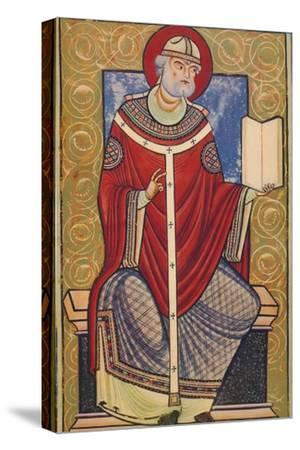 'St. Gregory The Great, 12th century, (1939)-Unknown-Stretched Canvas Print