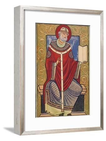 'St. Gregory The Great, 12th century, (1939)-Unknown-Framed Giclee Print