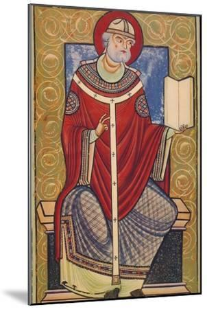 'St. Gregory The Great, 12th century, (1939)-Unknown-Mounted Giclee Print