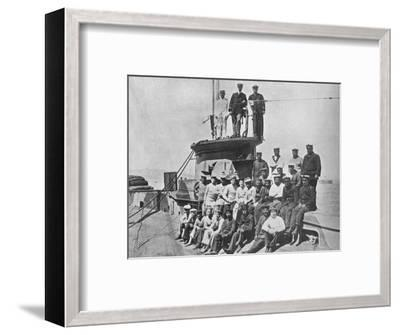 'The officers and crew of the HM Submarine E14', 1915-Unknown-Framed Photographic Print