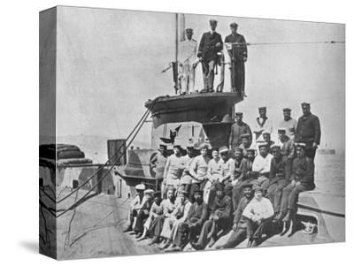 'The officers and crew of the HM Submarine E14', 1915-Unknown-Stretched Canvas Print