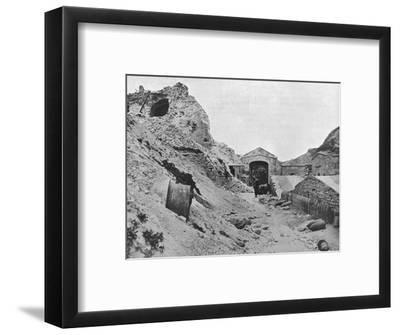 'Inside the wrecked fortress of Sedd el Bahr', 1915-Unknown-Framed Photographic Print