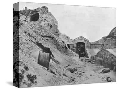 'Inside the wrecked fortress of Sedd el Bahr', 1915-Unknown-Stretched Canvas Print