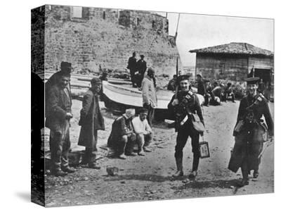 'Landing party of marines during the early part of operations against the Dardanelles', 1915-Unknown-Stretched Canvas Print