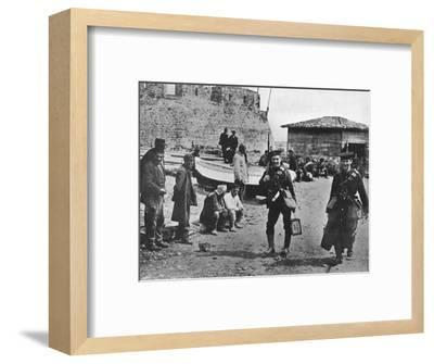 'Landing party of marines during the early part of operations against the Dardanelles', 1915-Unknown-Framed Photographic Print