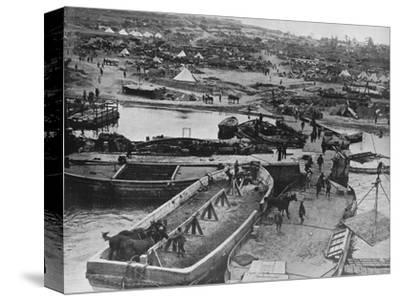 'Landing beach at Sedd el Bahr, as British troops arrived on the Peninsula', 1915-Unknown-Stretched Canvas Print