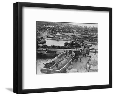 'Landing beach at Sedd el Bahr, as British troops arrived on the Peninsula', 1915-Unknown-Framed Photographic Print