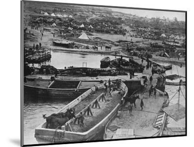 'Landing beach at Sedd el Bahr, as British troops arrived on the Peninsula', 1915-Unknown-Mounted Photographic Print