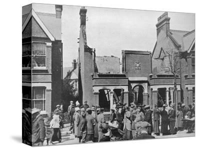 'The result of an air raid: A wrecked house in Southend', 1915-Unknown-Stretched Canvas Print