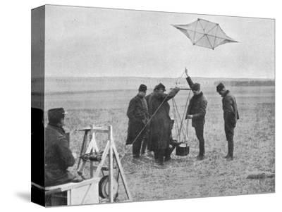 'Sending up one of the French war kites, to which a camera is attached', 1914, (1915)-Unknown-Stretched Canvas Print