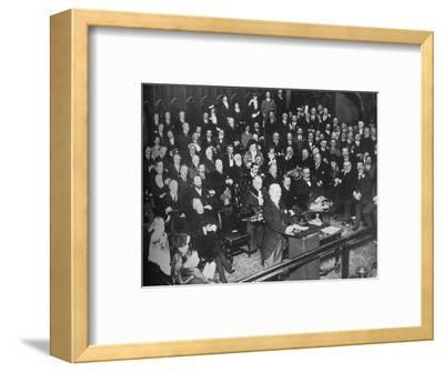 'The launching of the War Loan', 1915-Unknown-Framed Photographic Print