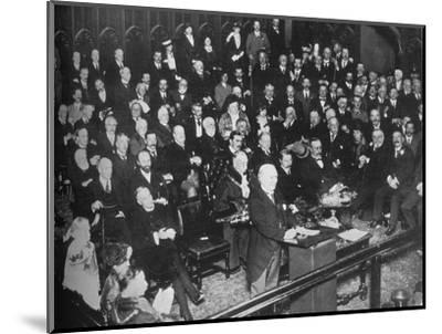 'The launching of the War Loan', 1915-Unknown-Mounted Photographic Print
