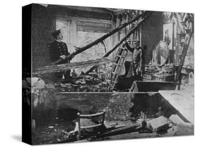 'The interior of one of the wrecked houses in Southend', 1915-Unknown-Stretched Canvas Print