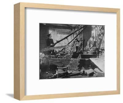 'The interior of one of the wrecked houses in Southend', 1915-Unknown-Framed Photographic Print