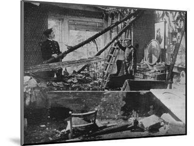 'The interior of one of the wrecked houses in Southend', 1915-Unknown-Mounted Photographic Print