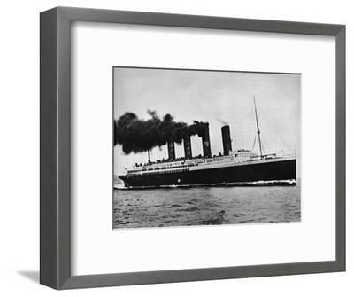 'The Lusitania at full speed', 1915-Unknown-Framed Photographic Print