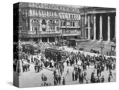 'A view of the Bourse during the passage of the German troops', 1914-Unknown-Stretched Canvas Print