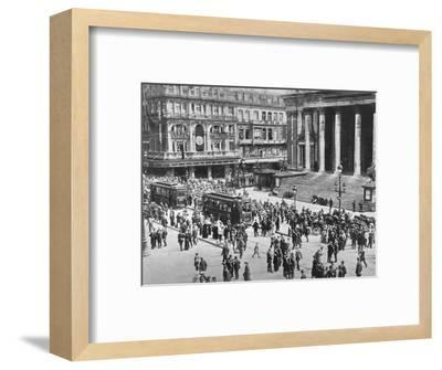 'A view of the Bourse during the passage of the German troops', 1914-Unknown-Framed Photographic Print