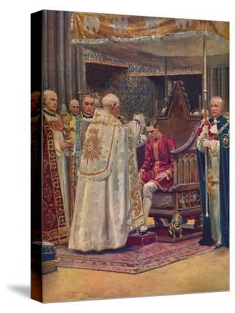 'The Anointing: The Archbishop Making the Sign of the Cross on the King's Head', 1937-Unknown-Stretched Canvas Print