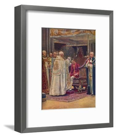 'The Anointing: The Archbishop Making the Sign of the Cross on the King's Head', 1937-Unknown-Framed Giclee Print