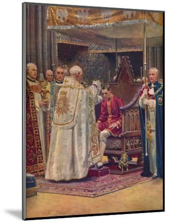 'The Anointing: The Archbishop Making the Sign of the Cross on the King's Head', 1937-Unknown-Mounted Giclee Print