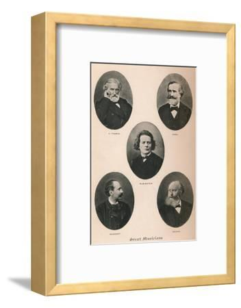 'Great Musicians - Plate I.', 1895-Unknown-Framed Photographic Print