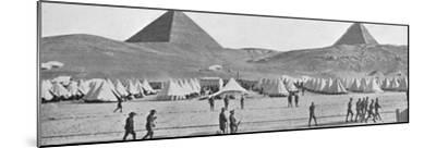 'The Australian troops in Egypt encamped near the Pyramids', 1914-Unknown-Mounted Photographic Print