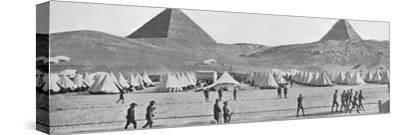 'The Australian troops in Egypt encamped near the Pyramids', 1914-Unknown-Stretched Canvas Print
