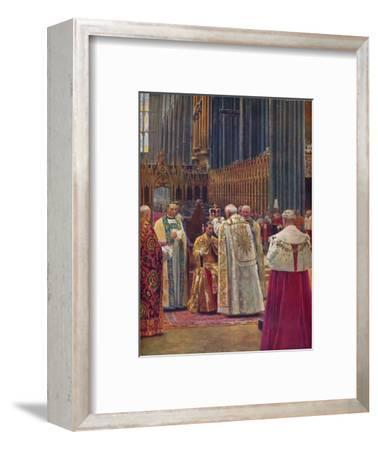 'The Crowning of the King', 1937-Unknown-Framed Giclee Print
