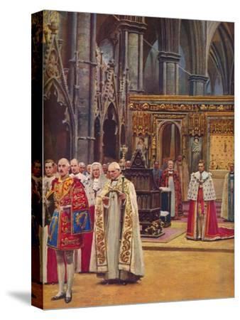 ''The Recognition: The King Stands Before the Assembly, presented by the Archbishop', 1937-Unknown-Stretched Canvas Print