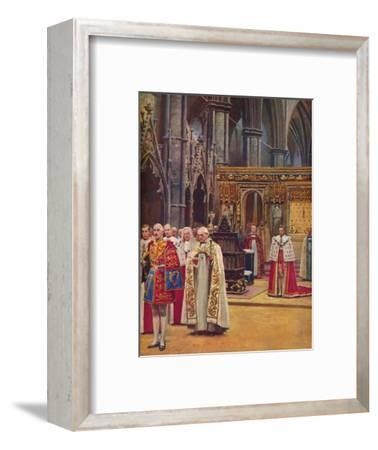 ''The Recognition: The King Stands Before the Assembly, presented by the Archbishop', 1937-Unknown-Framed Giclee Print