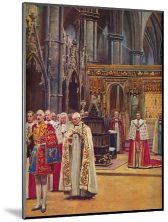 ''The Recognition: The King Stands Before the Assembly, presented by the Archbishop', 1937-Unknown-Mounted Giclee Print